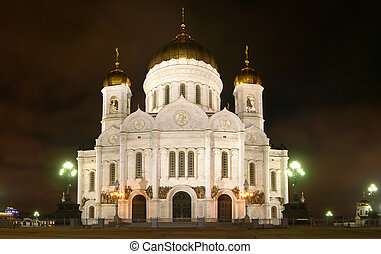 moscow church christ night