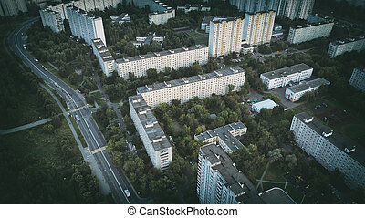 Moscow city from above