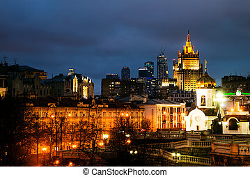 Moscow city in Russia. View of Cathedral Christ the Savior