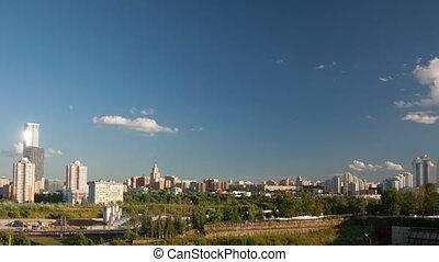 Moscow city landscape timelapse