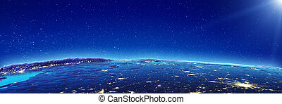 Moscow city lights. Elements of this image furnished by NASA...