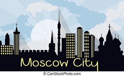Moscow City Silhouette