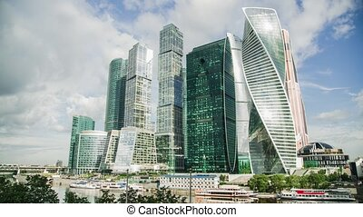 Moscow city timelapse - Time lapse of Moscow city...