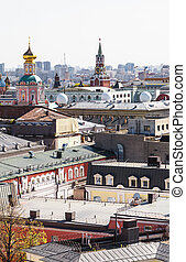 Moscow city view with Kremlin
