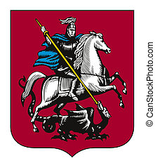 Moscow coat of arms - Illustration of Moscow city coat of...
