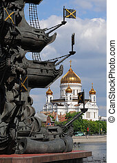 View of the the Cathedral of Christ the Savior in Moscow