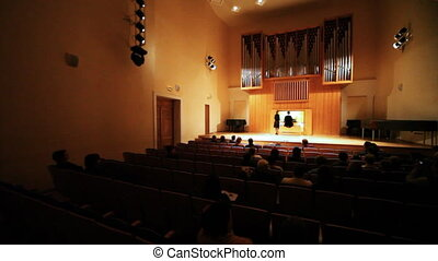 TATIANA ANDRIANOVA performs organ MUSIC NOT COPYRIGHTED in Museum of Musical Culture
