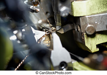 MOSCOW - FEBRUARY 16: Close-up view of a cutter and wire in auto