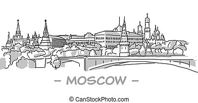 Moscow Hand Drawn Sketch