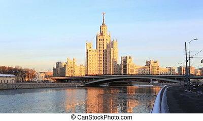 Moscow, high-rise building on Konelnicheskaya Embankment on...