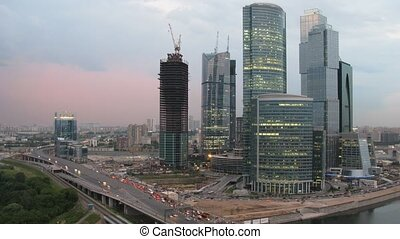 Moscow International Business Center, also referred to as Moscow-City Russia.