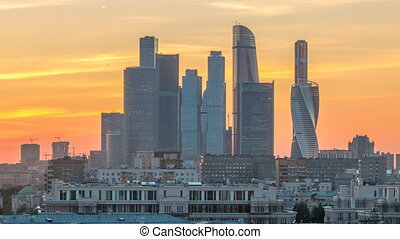 Moscow International Business Center and Moscow urban...