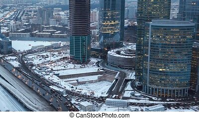 Moscow International Business Center also known as Moscow-City in Moscow