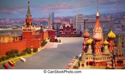 Night diorama Moscow - capital of USSR - MOSCOW - JANUARY 7:...