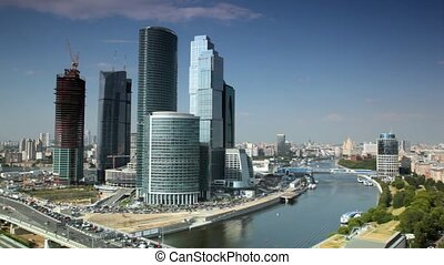 Moscow International Business Center at summer day