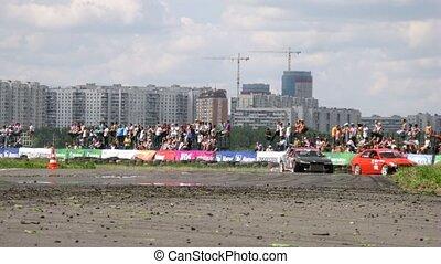 Drift racing on new highway Mega Fon Tushino - MOSCOW - JUNE...