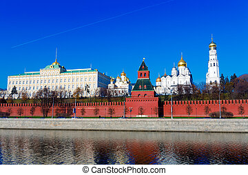 Moscow Kremlin and Moskva River, Russia