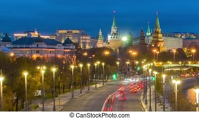 Moscow, Kremlin and Moskva River, Russia - Russia, Moscow, ...