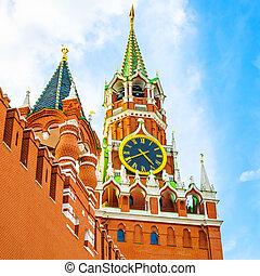 Moscow Kremlin and Spasskaya Tower photo