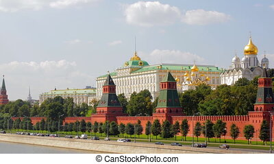 Moscow kremlin embankment time lapse