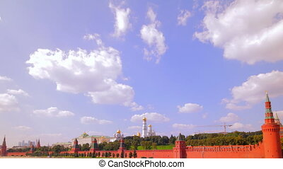 Moscow kremlin embankment time lapse