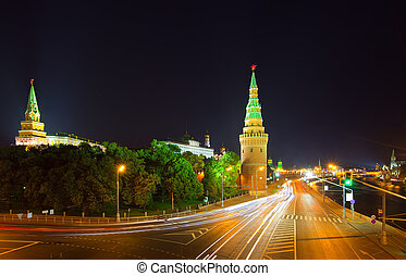 Moscow Kremlin in night. Russia