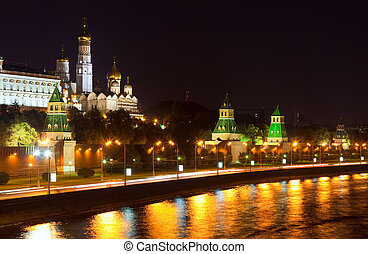 Moscow Kremlin in night