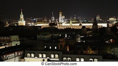 Moscow Kremlin in the Evening, night, Moscow, Russia