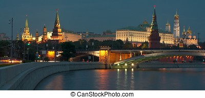 Moscow Kremlin in the evening