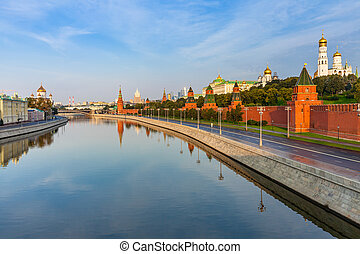 Moscow Kremlin in the morning, Russia