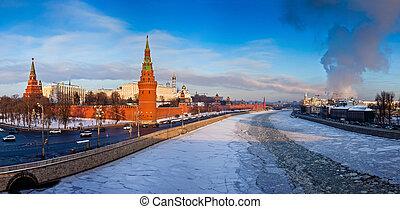 Moscow Kremlin in winter