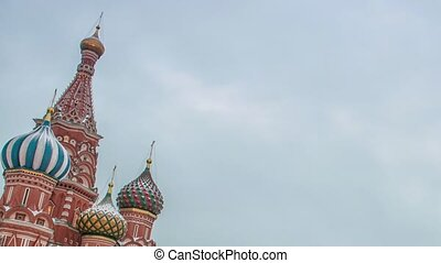 Russia, Moscow, Red Square, Kremlin, Heart of Russia Chiming clock Spasskaya Tower