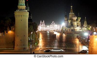 Moscow Kremlin night landscape
