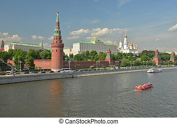 Moscow Kremlin on a summer day.