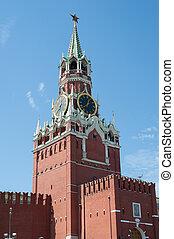 Moscow Kremlin, Red Square. Spasskaya clock tower