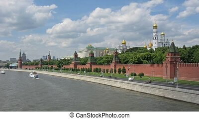 Moscow Kremlin river tima lapse