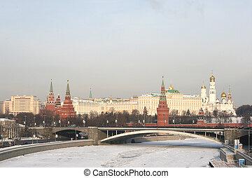 Moscow Kremlin Russia - Moscow Kremlin in winter