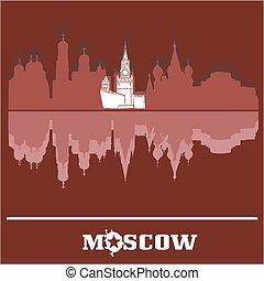 Moscow Kremlin skyline, Russia - Moscow skyline of buildings...