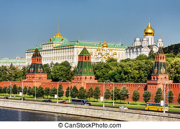 Moscow Kremlin - the Moscow Kremlin and the waterfront....