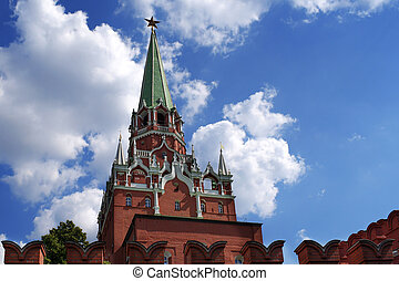 Moscow Kremlin tower, Russia