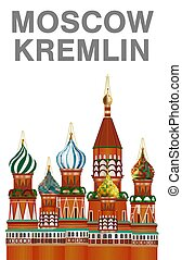 moscow kremlin vector on white background