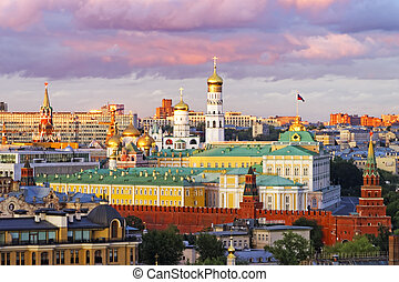 Moscow Kremlin view with stormy sky2