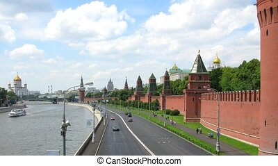 moscow kremlin wall time lapse