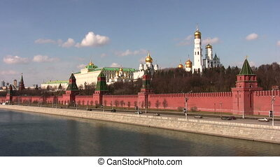 moscow kremlin wall - Wall of Kremlin, Moscow city.