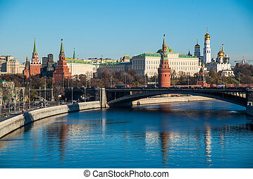 Moscow Kremlin with Moscow river