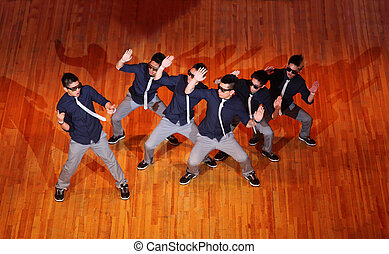 MOSCOW - MARCH 27: Poreotix group dance at Hip Hop...