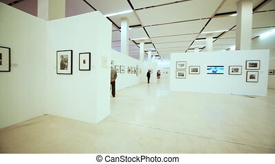 exhibition to devoted Nikita Khruschev in Moscow House of Photography of Moscow Manege