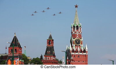 Military parade of 65th anniversaries of victory devoted to celebrating in WWII