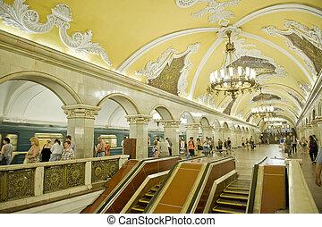 Moscow metro station KOMSOMOLSKAJA taken on June 2011