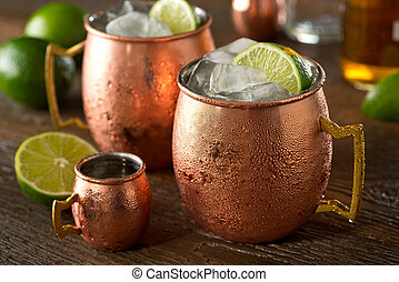 Moscow Mule - A delicious moscow mule cocktail with vodka, ...